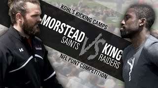 NFL Punter Competition: Thomas Morstead Vs. Marquette King