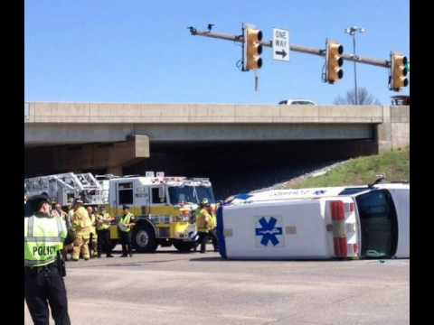 Manheim PA Overturned Ambulance Radio Traffic 4/16/14