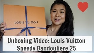 Unboxing: Louis Vuitton Speedy B 25 monogram canvas