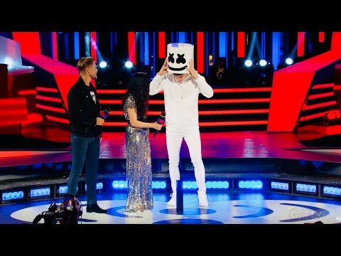 Marshmello SHOCKS MMVAs crowd by REVEALING he is.....Shawn Mendes?!