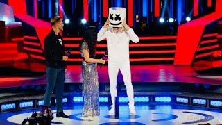 Marshmello SHOCKS MMVAs crowd by REVEALING he is.....Shawn Mendes?!
