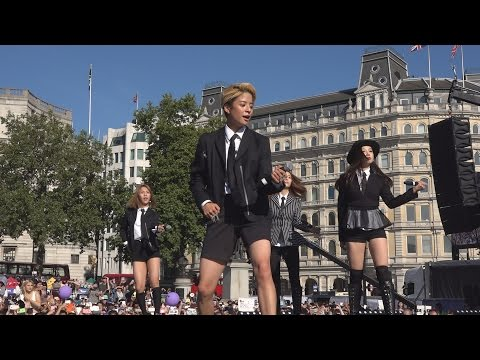 K-Pop band F(x) performing Rum Pum Pum Pum at the London Korean Festival 2015 런던 한인 축제 Part 7