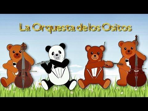 La Orquesta de Los Ositos tocando Música de Mozart para Bebés - Estimulación de la Inteligencia #