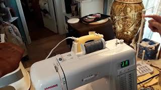 How to thread a Janome with a big spool of thread