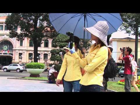 Ho Chi Minh City - Straßenverkehr und einige Sehenswürdigkeiten