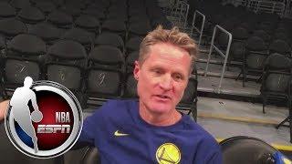 Steve Kerr pregame interview ahead of Warriors vs. Lakers | NBA on ESPN
