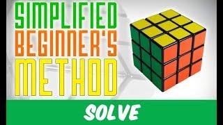 The Simplified Beginner's Method for the Rubik's Cube (4 algorithms only !)