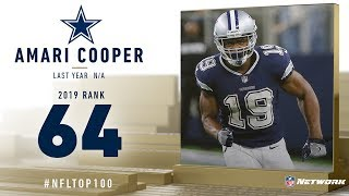 #64: Amari Cooper (WR, Cowboys) | Top 100 Players of 2019 | NFL