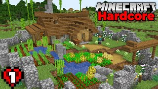 Minecraft Hardcore Let's Play : The Starter House! Episode 1