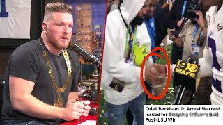 Pat McAfee Reacts To OBJ Handing Out Money To LSU Players After National Championship
