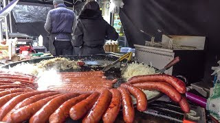 Huge Fried Sausages from Poland
