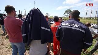 Funcionários da Qualiman discutem demissões na Refinaria Abreu e Lima