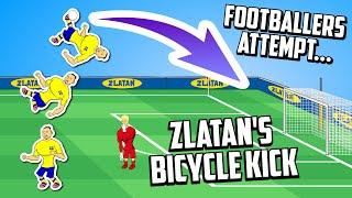 💥Footballers Attempt Zlatan's Bicycle Kick!💥 (Overhead Kick vs England 2012) Frontmen 2.4