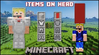 Minecraft - How To Put Items On A Player's Head (Java/Bedrock)