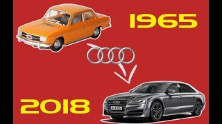 مراحل تطور سيارة اودي Audi من سنة 1965 الى سنة 2018     -