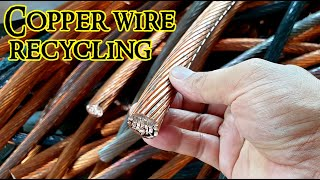 Copper wire recycling Bare bright copper cable scrap