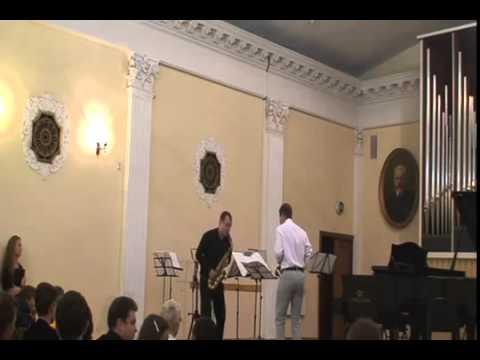 Volodymyr Runchak SAX tete a tete for two saxophones (Alexandr Balashov et Illia Vasiachkin)
