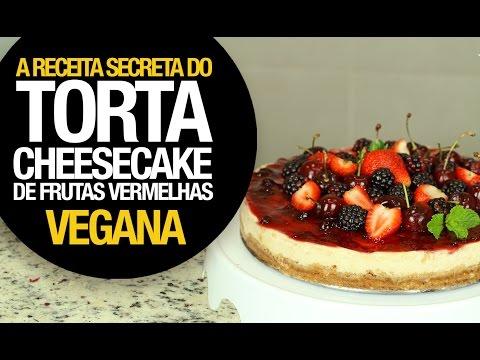 TORTA CHEESECAKE VEGANA DE FRUTAS VERMELHAS (ESPECIAL DE NATAL)