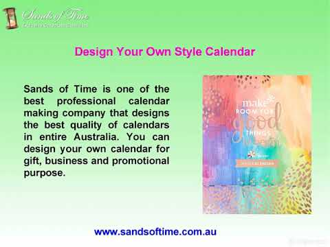 Design Your Own Calendar at Sands of Time