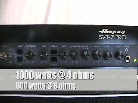 Ampeg SVT-7PRO Demo 1/2