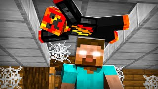 I Spent 100 Days in HEROBRINE's Minecraft House! *he had no idea*