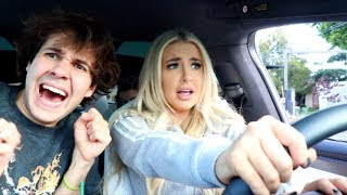 DAVID DOBRIK TEACHES ME HOW TO DRIVE (in his TESLA)