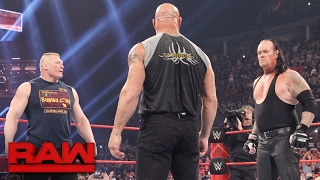 Brock Lesnar goes face-to-face with Goldberg and The Undertaker: Raw, Jan. 23, 2017