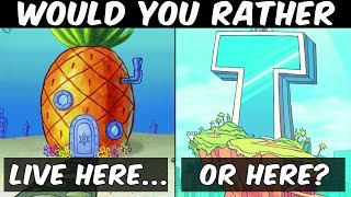 Would you rather | Spongebob Squarepants or Teen Titans Go? | Hardest choices challenge questions