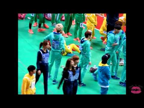 130128 - 130129 EXO sehun tao lu @ MBC idol star olympic sports championship athletic recording 2013