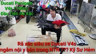 Rã xác Siêu xe 1100cc Mô tô PKL Ducati Panigale V4S đầu tiên Việt Nam NTN ??? Kỹ Sư Hẻm