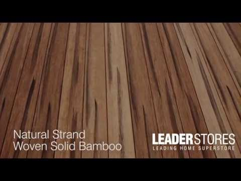 Wood+ Flooring Rustic 14x125mm Natural Strand Woven Solid Bamboo Flooring