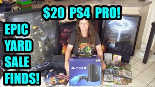 EPIC GAME FINDS! $20 PS4 PRO! Garage Sale & Pawn Shop Live Hunting Pickups  | Scottsquatch