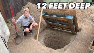 I dug an underground bunker in my backyard