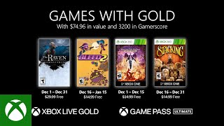 Games with Gold for December 2020 revealed
