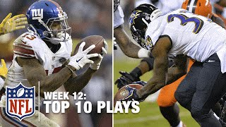 Top 10 Plays (Week 12)   Odell Beckham Jr.'s One-Handed Catch or Will Hill's FG Block Return at #1?