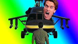 VanossGaming Top 10 GTA V Moments / Arnold Schwarzenegger, Drunk Wildcat, Cargobob