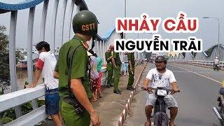 Nam thanh niên bỏ lại tư trang rồi nhảy cầu Nguyễn Trãi