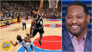 Robert Horry relives his dunk on Rip Hamilton in the 2005 NBA Finals | The Jump