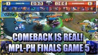 COMEBACK IS REAL! - SUNPARKS VS ONIC PH  GAME 5 - MPL PH SEASON 4 GRAND FINALS