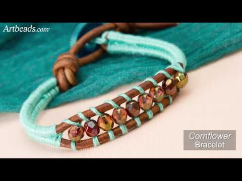 Artbeads Mini Tutorial - Double Cord Thread Wrapping with Cheri Carlson