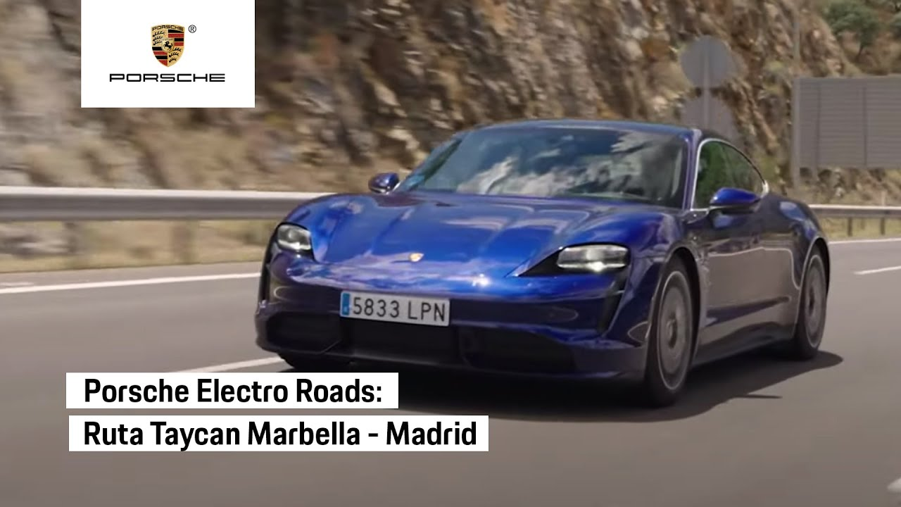 Ruta Marbella-Madrid con el Porsche Taycan Turbo