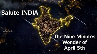 Salute India-The nine minutes wonder of April 5th, music b..