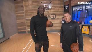 Area 21: Jason Williams Shows Kevin Garnett How to Do The Elbow Pass   2.2.17  