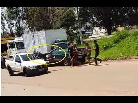Quebra-quebra na cidade de Cacoal quase termina em morte