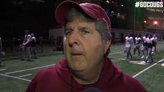 Mike Leach after practice Oct. 31
