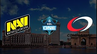 Live English: NAVI vs COMPLEXITY B03 | ESL One Mumbai 2019 | Group Stage