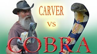 Carving  a King Cobra Walking Stick from Wood