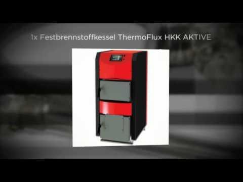 Scheitholzkessel ThermoFlux Holzkessel HKK Active 40 kW Set 1