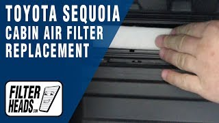 How to Replace Cabin Air Filter 2008 Toyota Sequoia