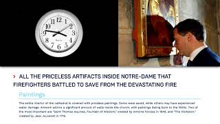 All the priceless artifacts inside Notre Dame that firefighters battled to save from the
